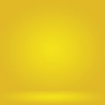 Cores suaves abstratas mágicas de fundo de estúdio gradiente amarelo brilhante