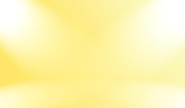 Cores suaves abstratas mágicas de fundo de estúdio gradiente amarelo brilhante.