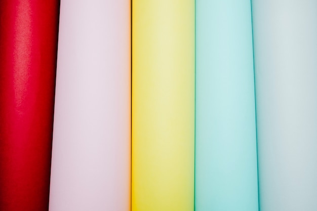 Cores suaves de papel