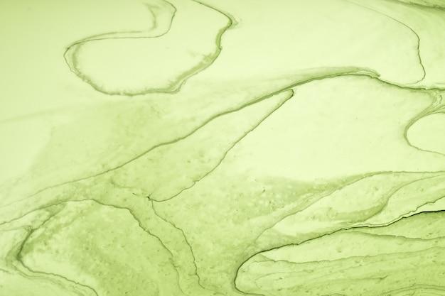 Cores verdes claras de fundo abstrato arte fluida. mármore líquido