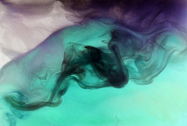 Cores vibrantes, fundo abstrato de fumaça brilhante