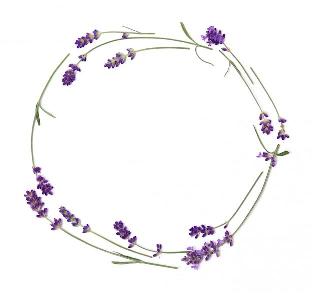 Coroa de flores de lavanda