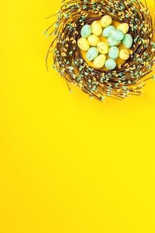 Coroa de flores de páscoa decoração decoração férias