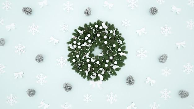 Coroa de flores para o natal