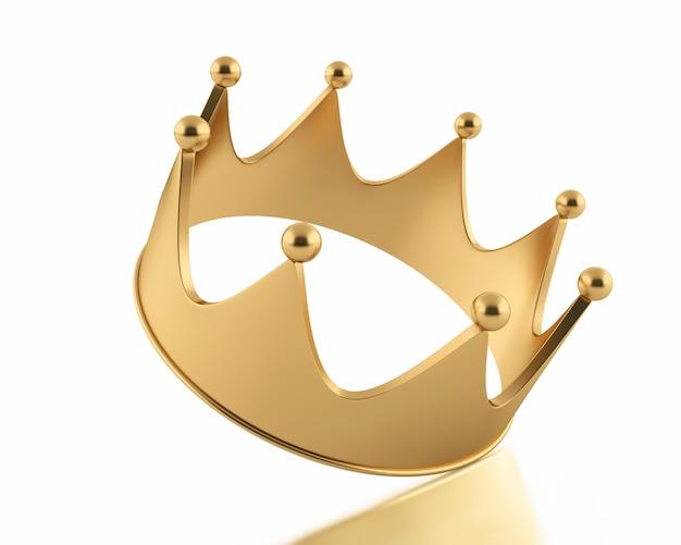 Coroa de ilustração dourada
