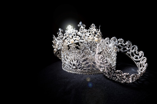 Coroa de prata de diamante para concurso de beleza miss conceant