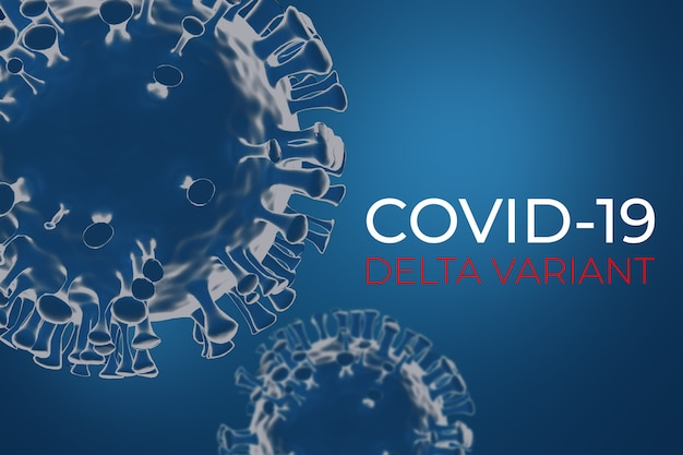 Coronavírus covid delta variante d render