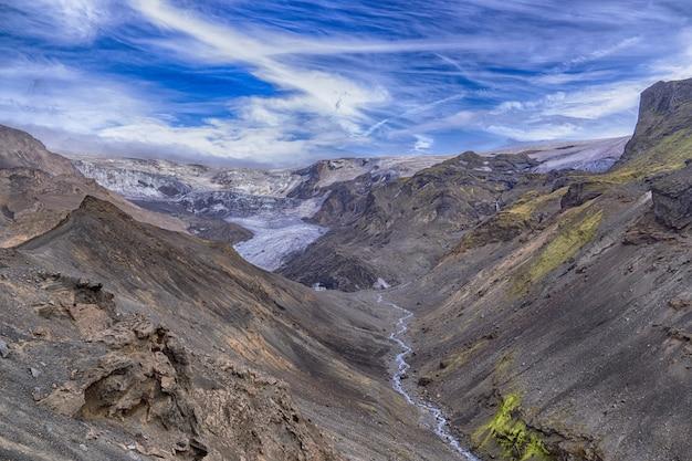Corpo d'água entre montanhas