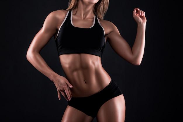 Corpo de mulher de fitness