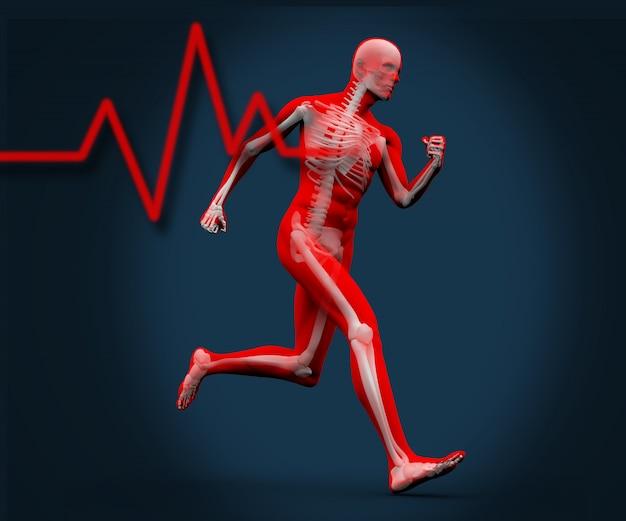Corpo digital correndo