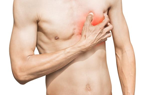 Corpo humano em processo de ataque cardíaco