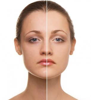 Correção de rosto de mulher