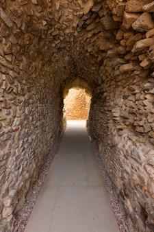 Corredor de anfiteatro romano de cartagena em espanha