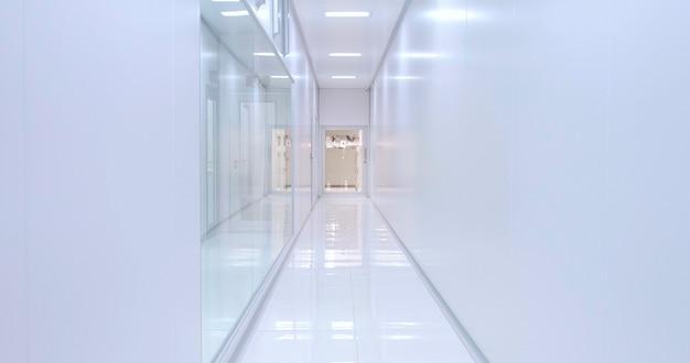 Corredor do hospital. ser internado em um hospital. entrando no hospital com urgência em uma maca.