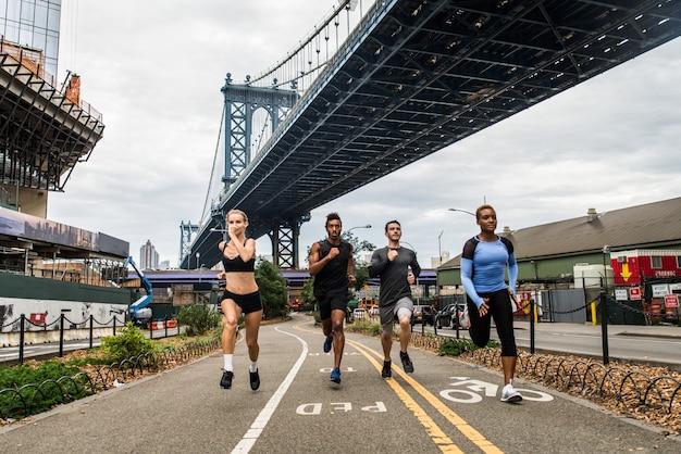 Corredores treinando em nova york