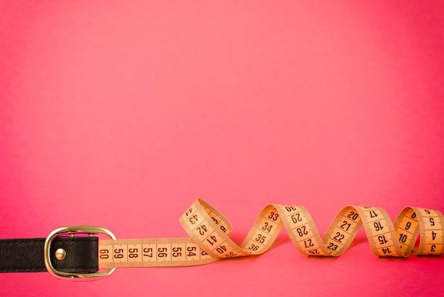 Correia de fivela de fita métrica para medição da circunferência da cintura de perda de peso