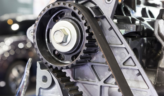 Correia dentada do motor diesel