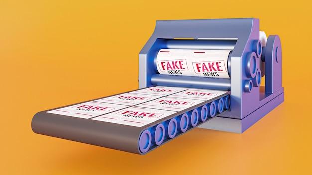Correia transportadora com notícias falsas