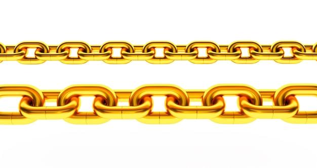 Corrente dourada. isolado