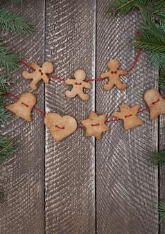 Corrente feita de biscoitos de pão de gengibre