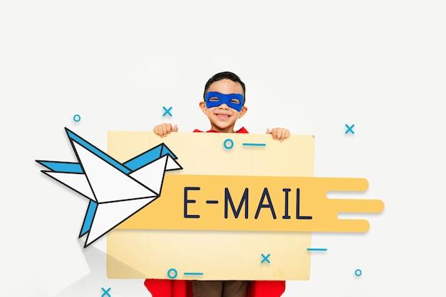 Correspondência de conexão de correspondência postal de correio