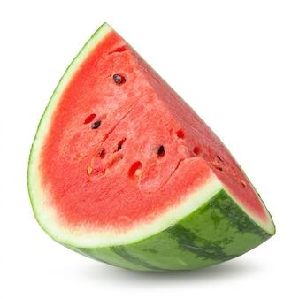 Cortado da melancia isolado sobre o fundo branco.