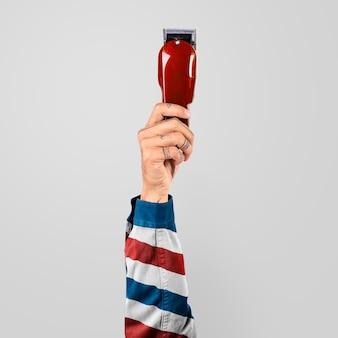 Cortador de cabelo elétrico masculino, barbeiro e campanha profissional