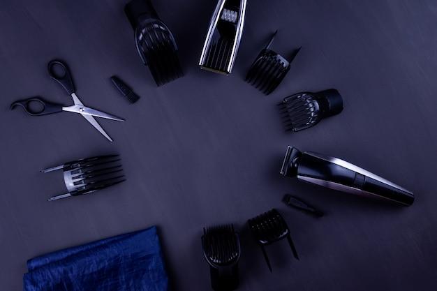 Cortador de cabelo preto