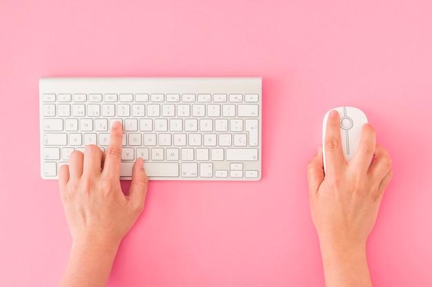 Cortar as mãos usando o teclado e o mouse