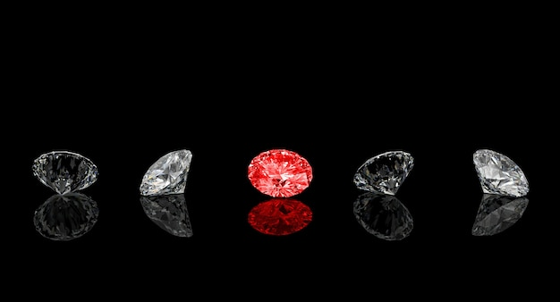 Corte clássico de diamante vermelho