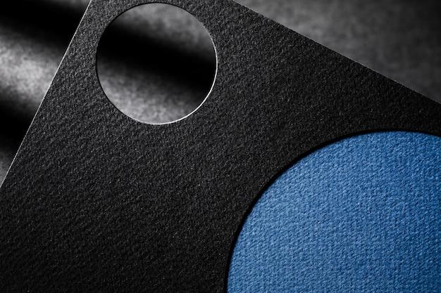 Corte close-up de papel texturizado