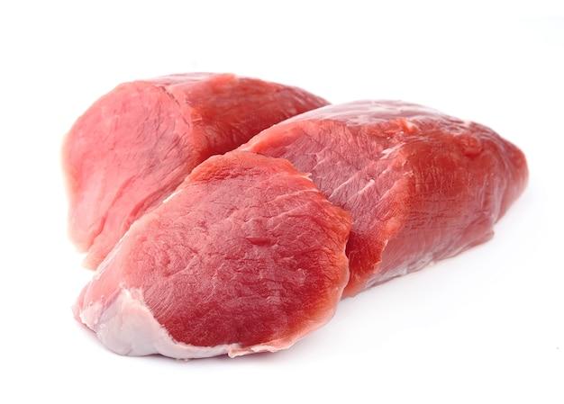 Corte de carne de porco crua. carne crua