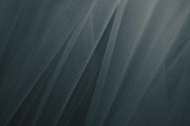 Cortina suspensa com rede texturizada