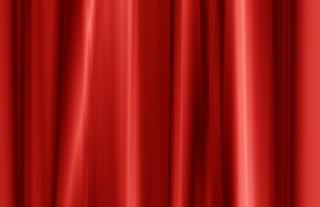 Cortina vermelha de cetim