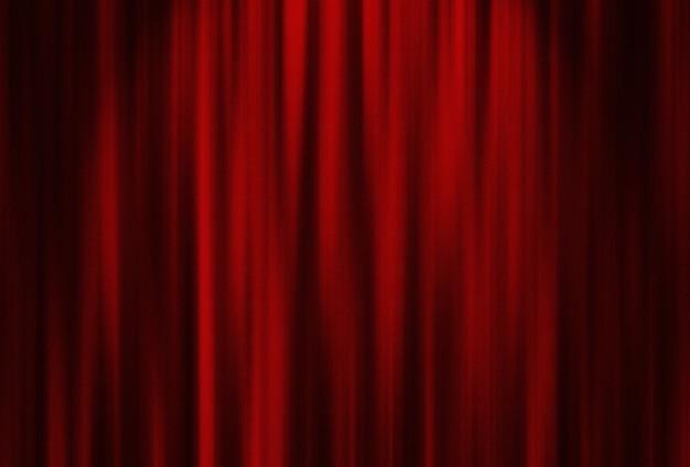 Cortina vermelha de teatro com iluminação especial