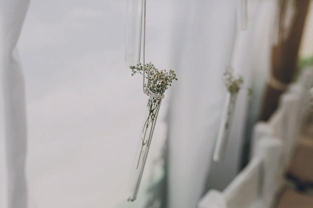 Cortinas com flores
