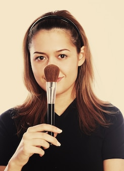 Cosmetician, jovem mulher