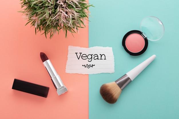 Cosmético e maquiagem vegan