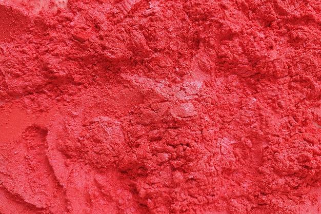 Cosméticos em pó de mica vermelha