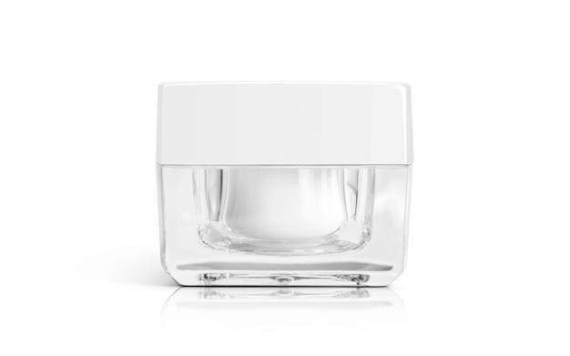 Cosméticos embalagem creme de maquiagem pote para design de produto.