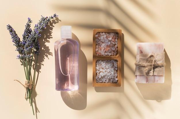 Cosméticos lavanda para tratamentos de spa