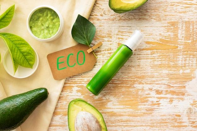 Cosméticos naturais abacate eco cream spa