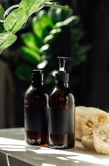 Cosméticos para o banheiro sem resíduos cosméticos ambientais