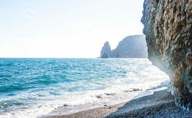 Costa do mar negro, cabo fiolent, crimeia, sebastopol