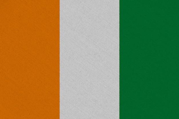 Costa do marfim - bandeira de tecido da costa do marfim