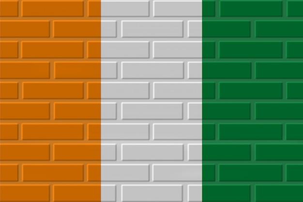 Costa do marfim - ilustração de bandeira de tijolo da costa do marfim