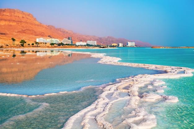 Costa do sal do mar morto. ein bokek, israel
