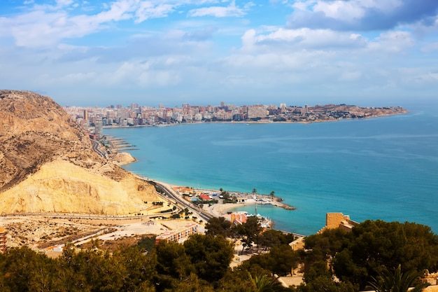 Costa mediterrânea em alicante