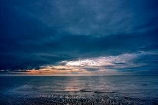 Costeira nuvens hdr larga