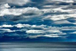 Costeira nuvens paisagem hdr cinza